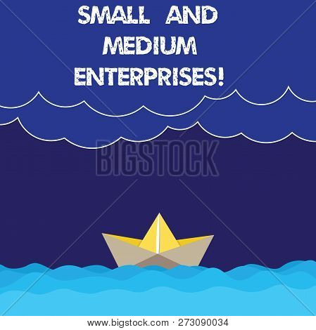 Writing Note Showing Small And Medium Enterprises. Business Photo Showcasing Sme Growth Of Startups