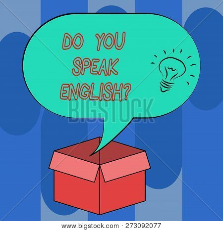 Handwriting Text Do You Speak Englishquestion. Concept Meaning Speaking Learning Different Languages