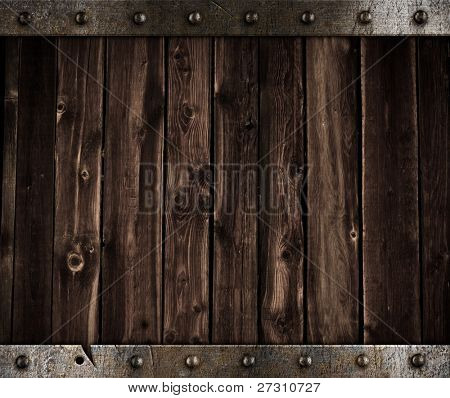 old metal and wood medieval background