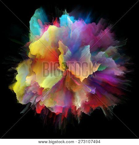 Virtual Colorful Paint Splash Explosion