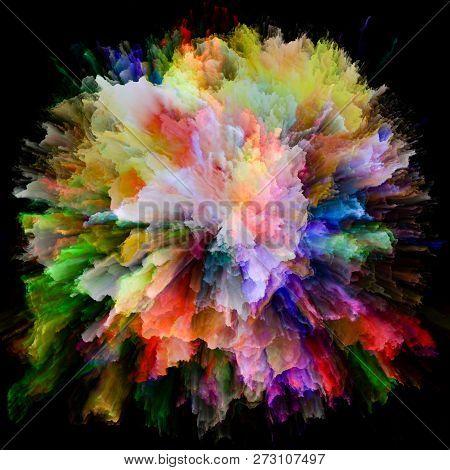 Artificial Colorful Paint Splash Explosion