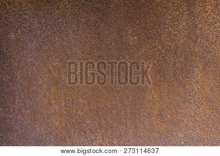 Brown Metal Background Texture, Metal Steel Vintage Plate With Some Old Scratch, Brown Metal Plate