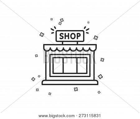 Shop Line Icon  Store Vector & Photo (Free Trial) | Bigstock