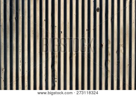 Old Distressed Painted Chipped White Wall With Lines And Shadows