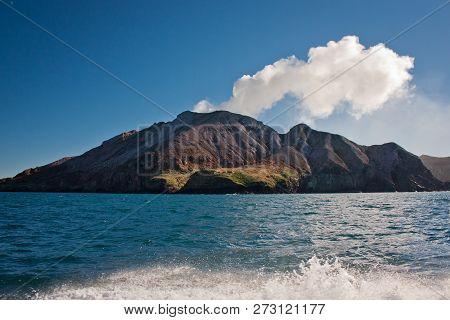 White Island In North Island Of New Zealand