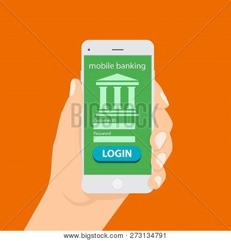 Money Transaction, Business, Mobile Banking And Mobile Payment. Flat Isometric Mobile Banking Concep