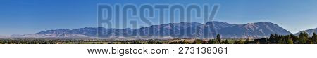 Logan Valley Landscape Views Including Wellsville Mountains, Nibley, Hyrum, Providence And College W