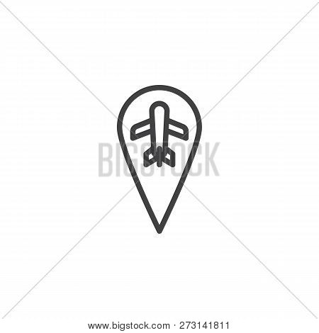 Airport Location Pin Vector Photo Free Trial