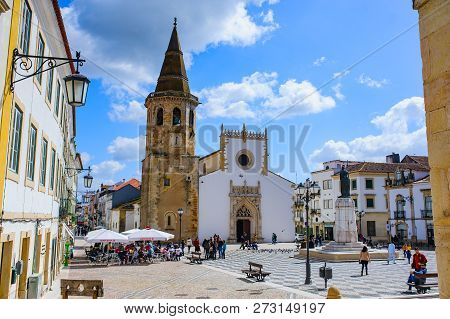 TOMAR, PORTUGAL - MARCH 31, 2018. Tomar city view in Portugal