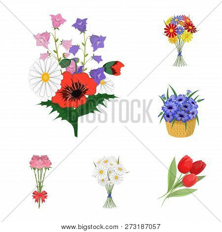 Vector Illustration Of Spring And Wreath Logo. Set Of Spring And Blossom Vector Icon For Stock.