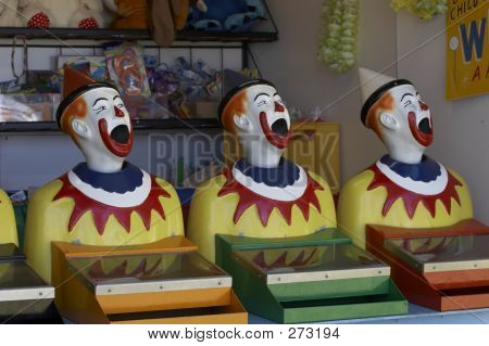 Trio Clown Heads