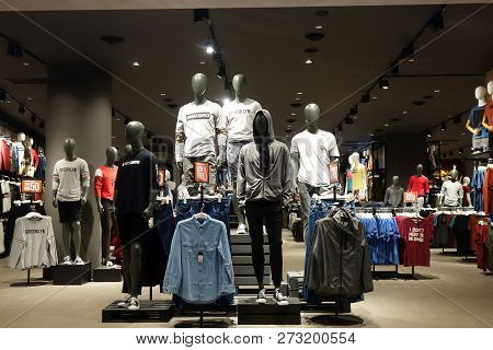 Genting Highlands, Malaysia- Dec 03, 2018 : Luxury And Fashionable Brand Display In A Boutique. Casu