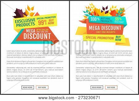 Mega Discount Exclusive Natural Product Autumnal Proposition. Super Offer Limited Time Only One Mont