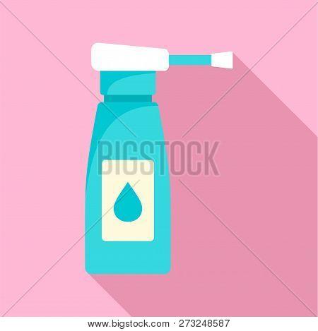 Neck Spray Icon. Flat Illustration Of Neck Spray Vector Icon For Web Design