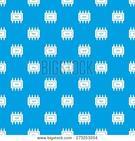 Transistor Microchip Pattern Vector Seamless Blue Repeat For Any Use