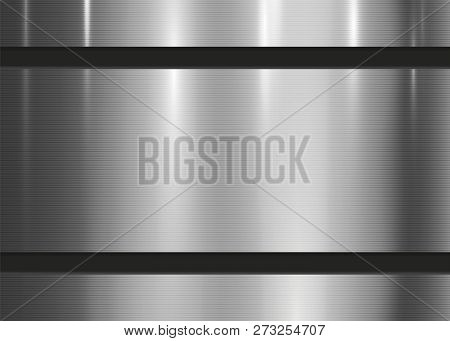 Metal Abstract Texture Background. Technology Brushed, Polished, Chrome, Silver, Steel, Aluminum Sur