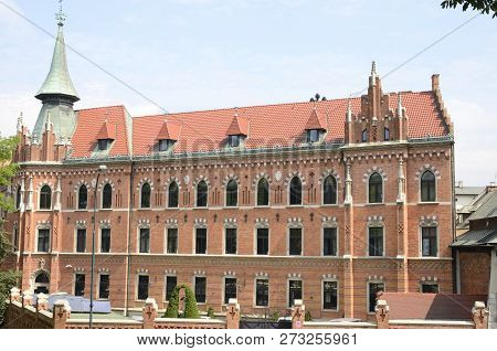 Building Of Seminary Of Archdiocese Of Krakow, Poland.