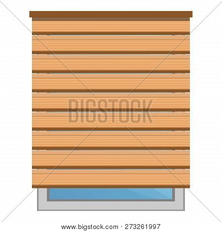 Wood Sun Blind Icon. Cartoon Of Wood Sun Blind Vector Icon For Web Design Isolated On White Backgrou