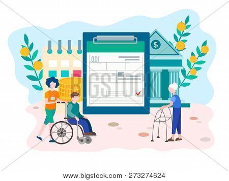 Social Security Benefits Form Filling For Pensioners And Disabled Person. Social Security Disability