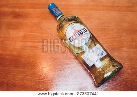Ufa, Russia, Darling Bar, 20 November, 2018: Martini Vermouth, Bianco. Martini Is A Brand Of Italian