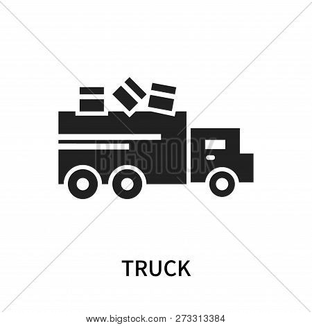 Truck Icon Isolated On White Background. Truck Icon Simple Sign. Truck Icon Trendy And Modern Symbol