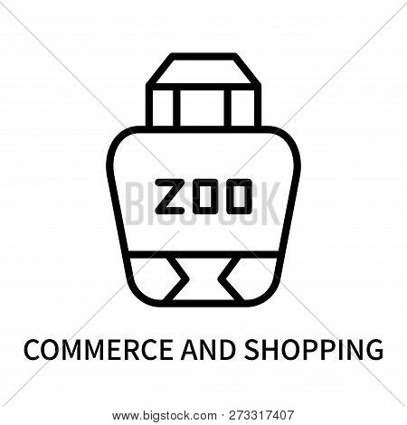 Commerce And Shopping Icon Isolated On White Background. Commerce And Shopping Icon Simple Sign. Com