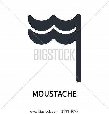 Moustache Icon Isolated On White Background. Moustache Icon Simple Sign. Moustache Icon Trendy And M