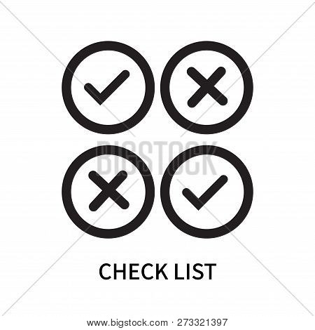 Check List Icon Isolated On White Background. Check List Icon Simple Sign. Check List Icon Trendy An
