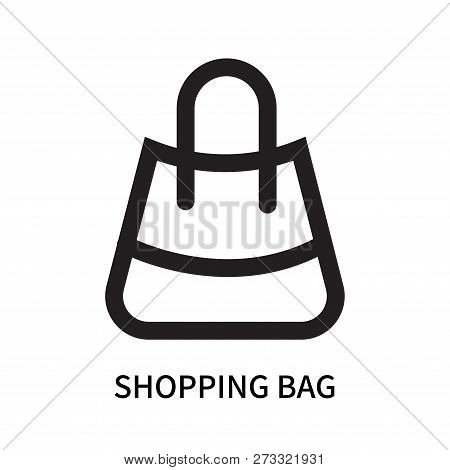 Shopping Bag Icon Isolated On White Background. Shopping Bag Icon Simple Sign. Shopping Bag Icon Tre