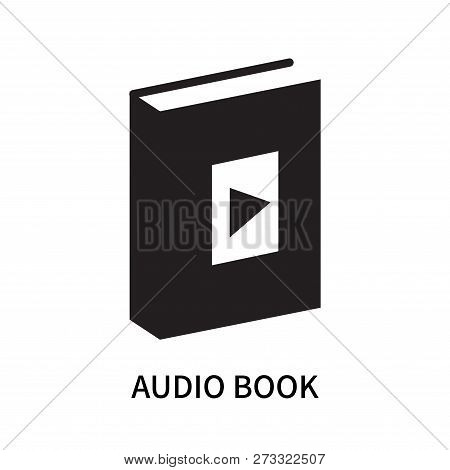Audio Book Icon Isolated On White Background. Audio Book Icon Simple Sign. Audio Book Icon Trendy An
