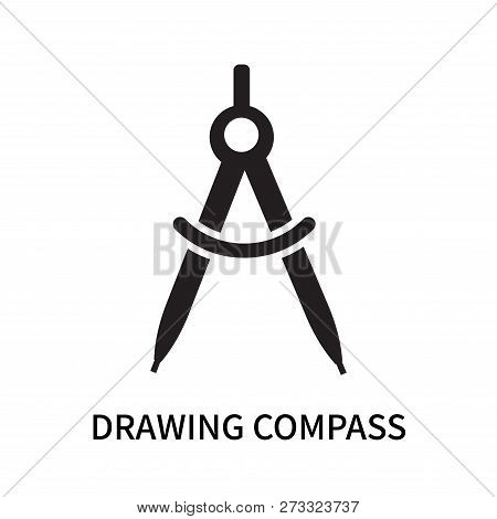 Drawing Compass Icon Isolated On White Background. Drawing Compass Icon Simple Sign. Drawing Compass