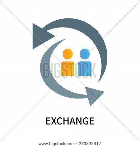 Exchange Icon Isolated On White Background. Exchange Icon Simple Sign. Exchange Icon Trendy And Mode
