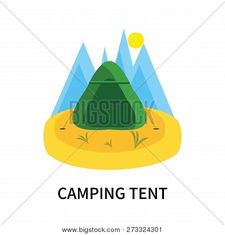 Camping Tent Icon Isolated On White Background. Camping Tent Icon Simple Sign. Camping Tent Icon Tre