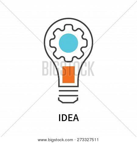 Idea Icon Isolated On White Background. Idea Icon Simple Sign. Idea Icon Trendy And Modern Symbol Fo
