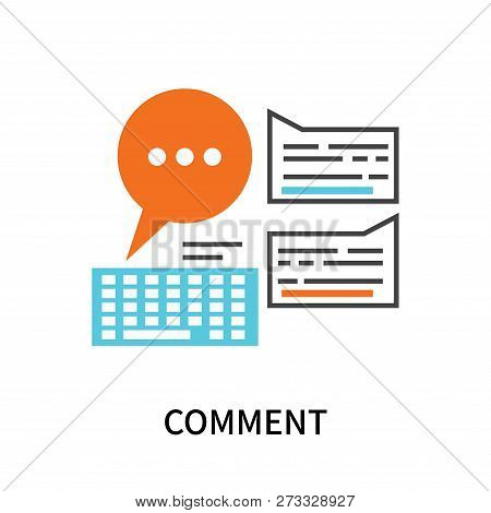 Comment Icon Isolated On White Background. Comment Icon Simple Sign. Comment Icon Trendy And Modern