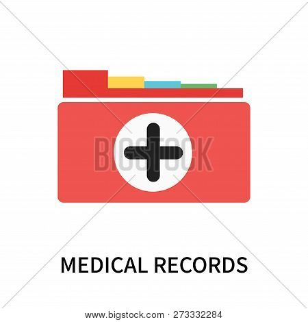 Medical Records Icon Isolated On White Background. Medical Records Icon Simple Sign. Medical Records