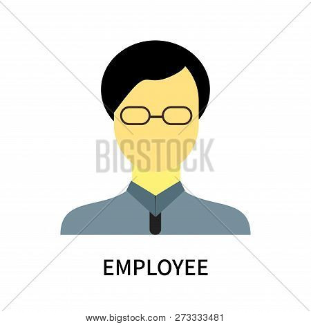 Employee Icon Isolated On White Background. Employee Icon Simple Sign. Employee Icon Trendy And Mode