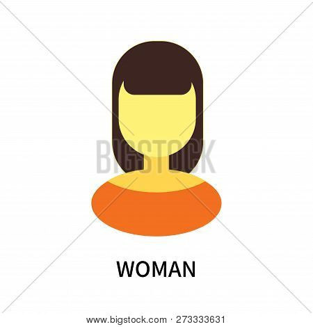 Woman Icon Isolated On White Background. Woman Icon Simple Sign. Woman Icon Trendy And Modern Symbol