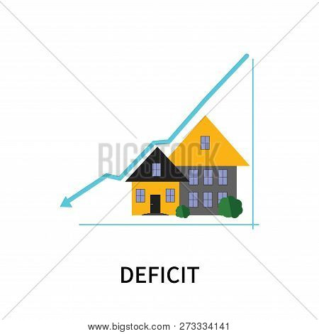 Deficit Icon Isolated On White Background. Deficit Icon Simple Sign. Deficit Icon Trendy And Modern