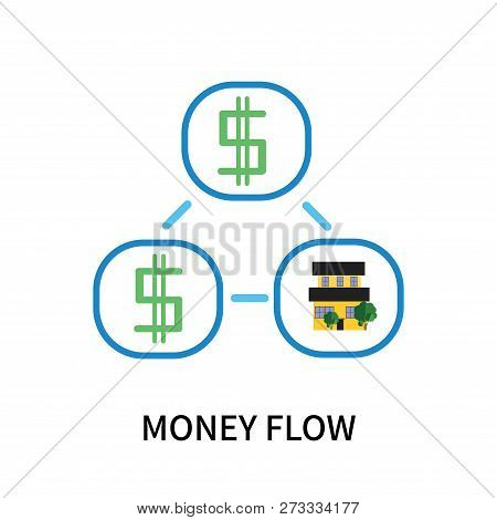 Money Flow Icon Isolated On White Background. Money Flow Icon Simple Sign. Money Flow Icon Trendy An