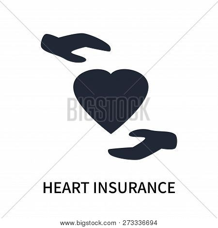 Heart Insurance Icon Isolated On White Background. Heart Insurance Icon Simple Sign. Heart Insurance