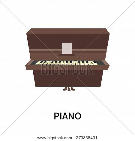 Piano Icon Isolated On White Background. Piano Icon Simple Sign. Piano Icon Trendy And Modern Symbol