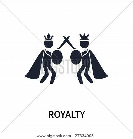 Royalty icon isolated on white background. Royalty icon simple sign. Royalty icon trendy and modern symbol for graphic and web design. Royalty icon flat vector illustration for logo, web, app, UI. poster