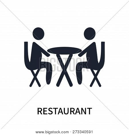 Restaurant Icon Isolated On White Background. Restaurant Icon Simple Sign. Restaurant Icon Trendy An