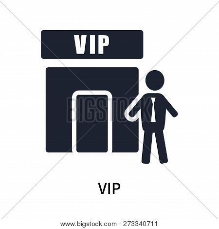 poster of Vip icon isolated on white background. Vip icon simple sign. Vip icon trendy and modern symbol for graphic and web design. Vip icon flat vector illustration for logo, web, app, UI.