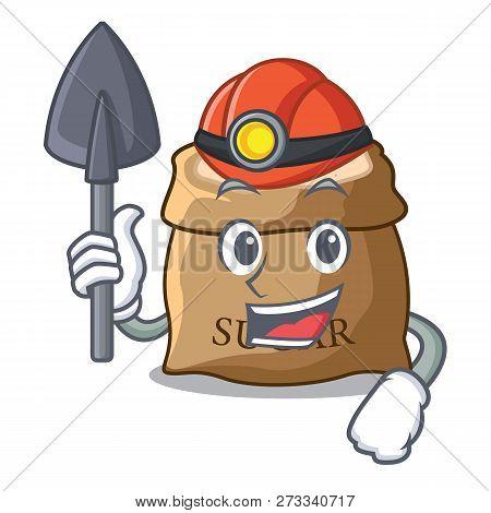 Miner Sugar That Burlap Sack On Mascot