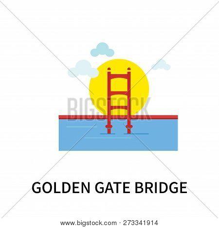 Golden Gate Bridge Icon Isolated On White Background. Golden Gate Bridge Icon Simple Sign. Golden Ga