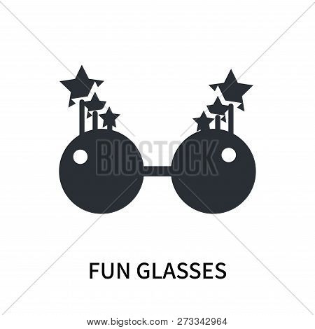 Fun Glasses Icon Isolated On White Background. Fun Glasses Icon Simple Sign. Fun Glasses Icon Trendy