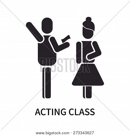 Acting Class Icon Isolated On White Background. Acting Class Icon Simple Sign. Acting Class Icon Tre