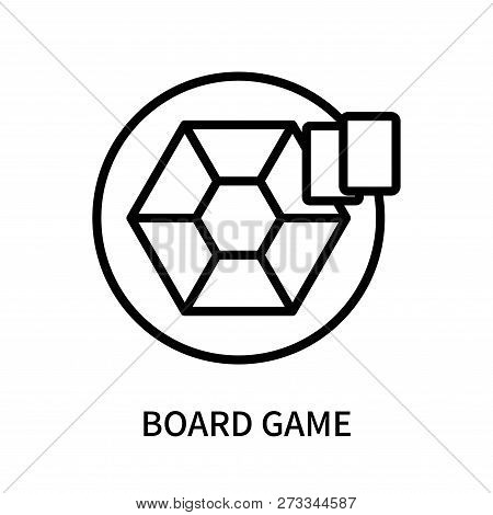 Board Game Icon Isolated On White Background. Board Game Icon Simple Sign. Board Game Icon Trendy An
